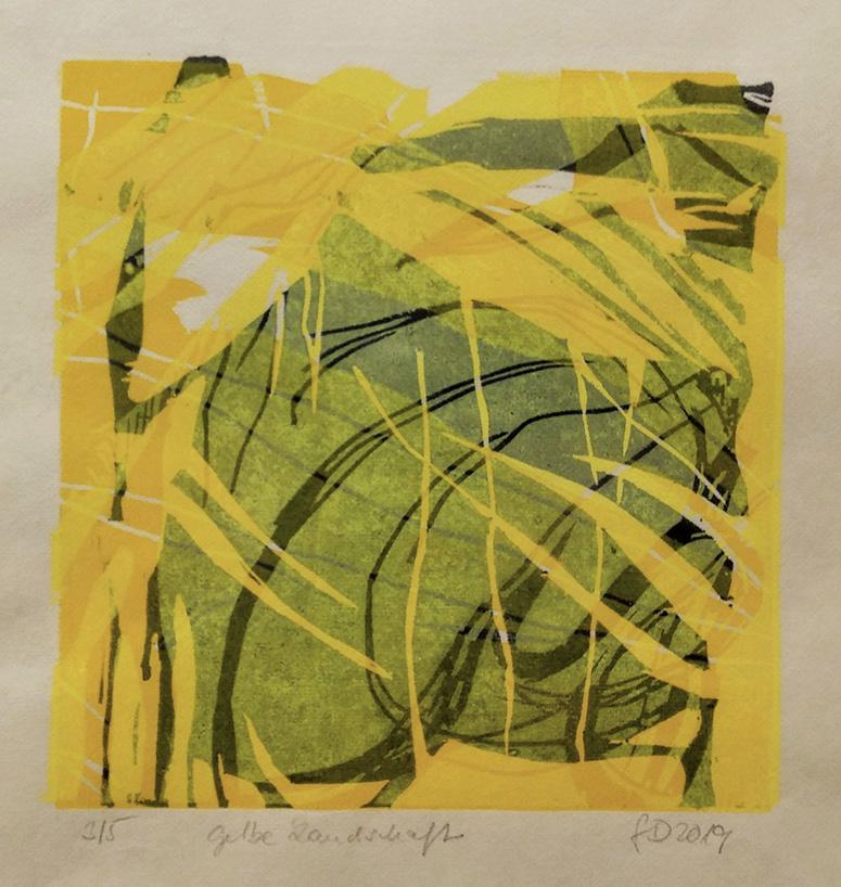 Gabi Dahl - Gelbe Landschaft